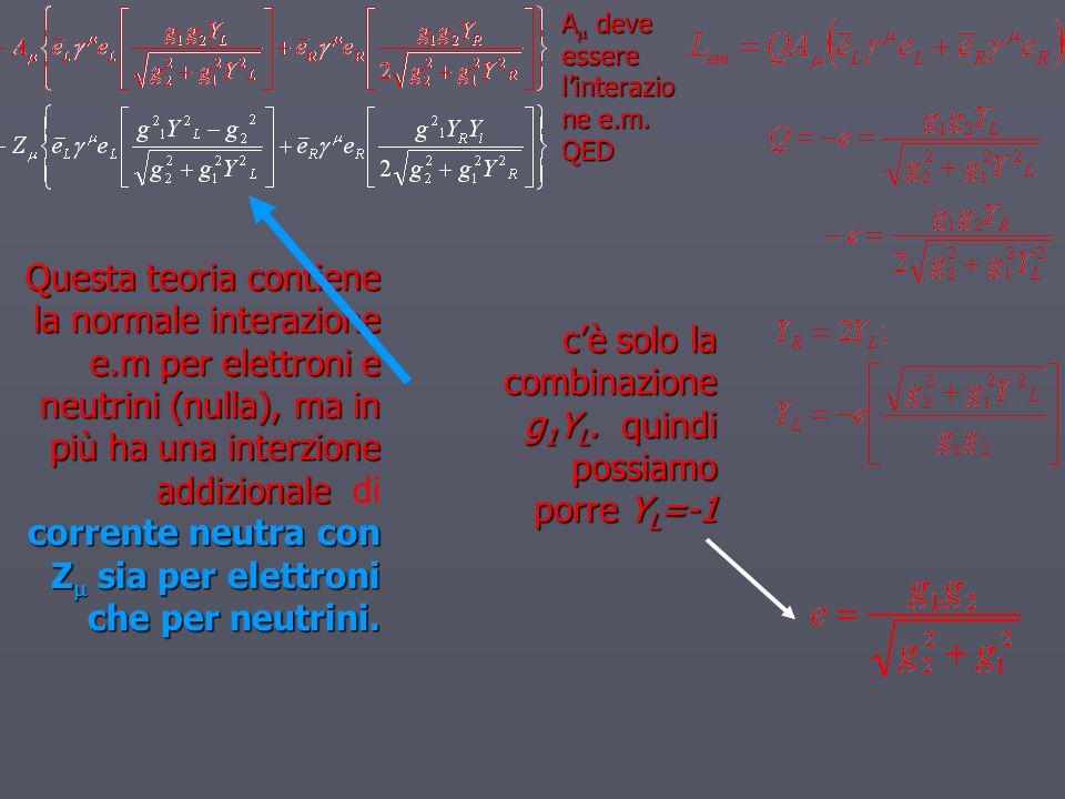 c'è solo la combinazione g1YL. quindi possiamo porre YL=-1