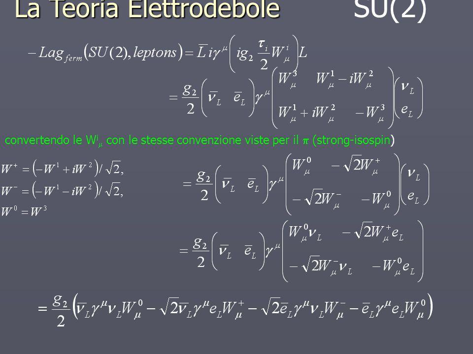 La Teoria Elettrodebole SU(2)