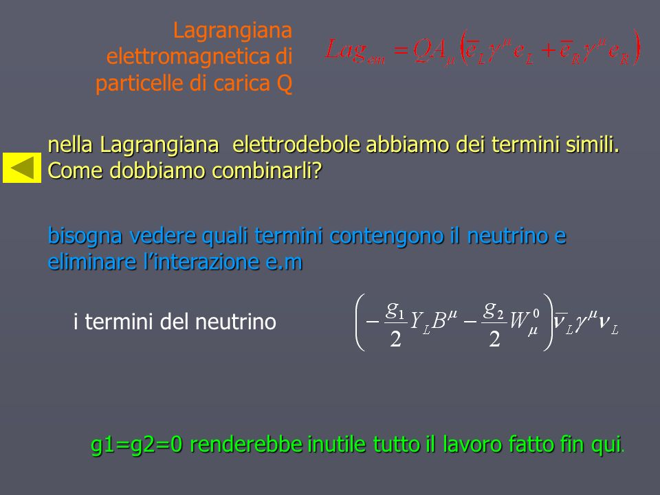 Lagrangiana elettromagnetica di particelle di carica Q