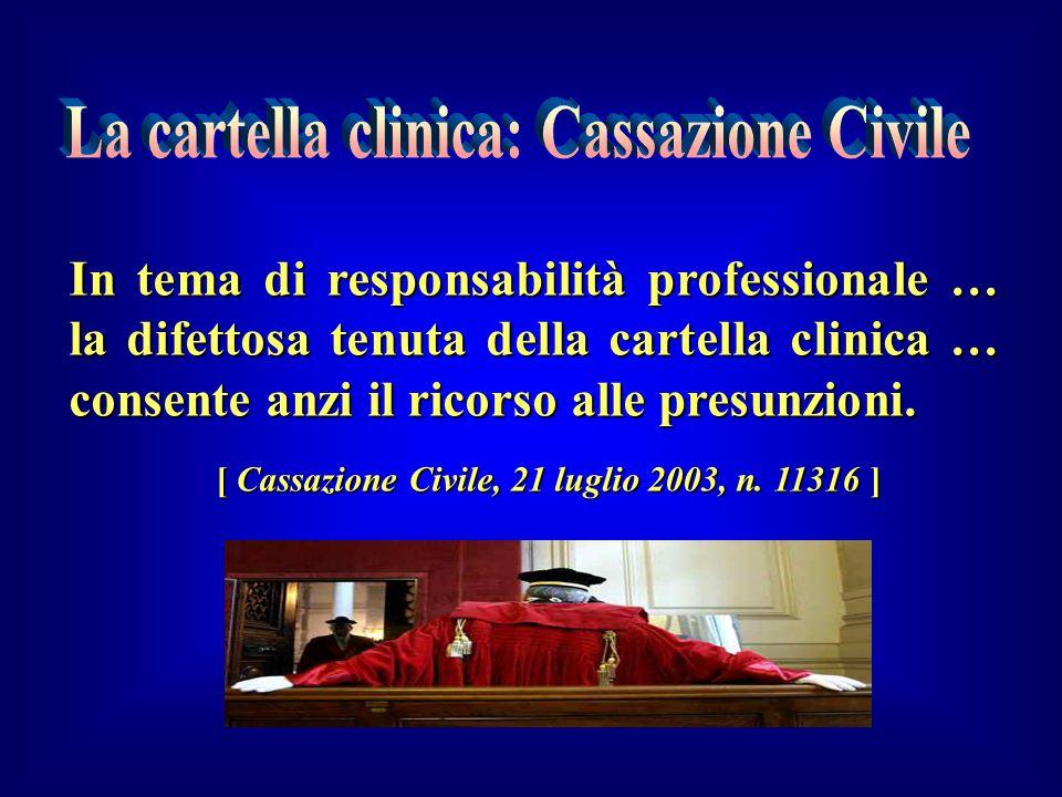 La cartella clinica: Cassazione Civile
