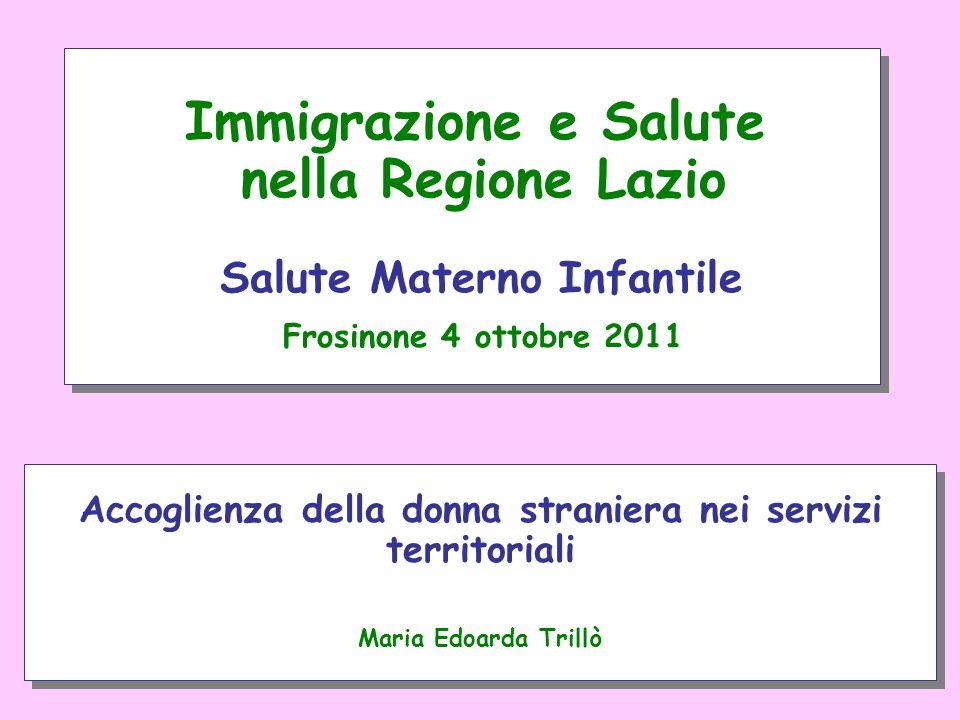 Accoglienza della donna straniera nei servizi territoriali