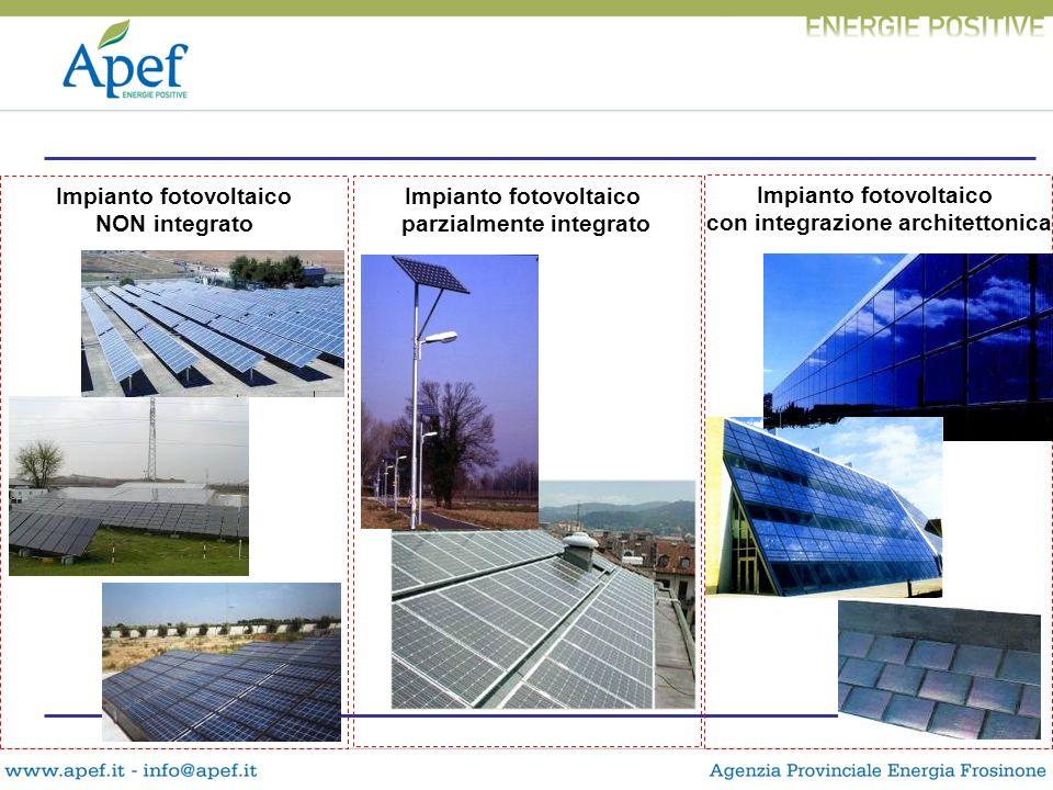 Impianto fotovoltaico NON integrato Impianto fotovoltaico