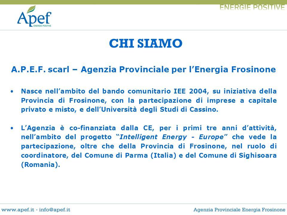 A.P.E.F. scarl – Agenzia Provinciale per l'Energia Frosinone