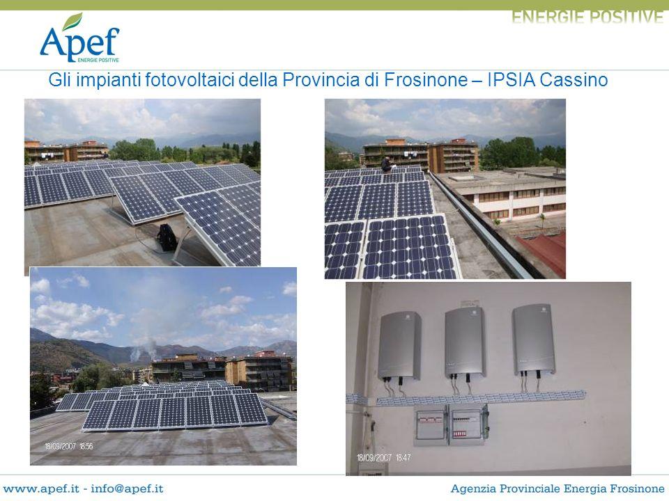 Gli impianti fotovoltaici della Provincia di Frosinone – IPSIA Cassino