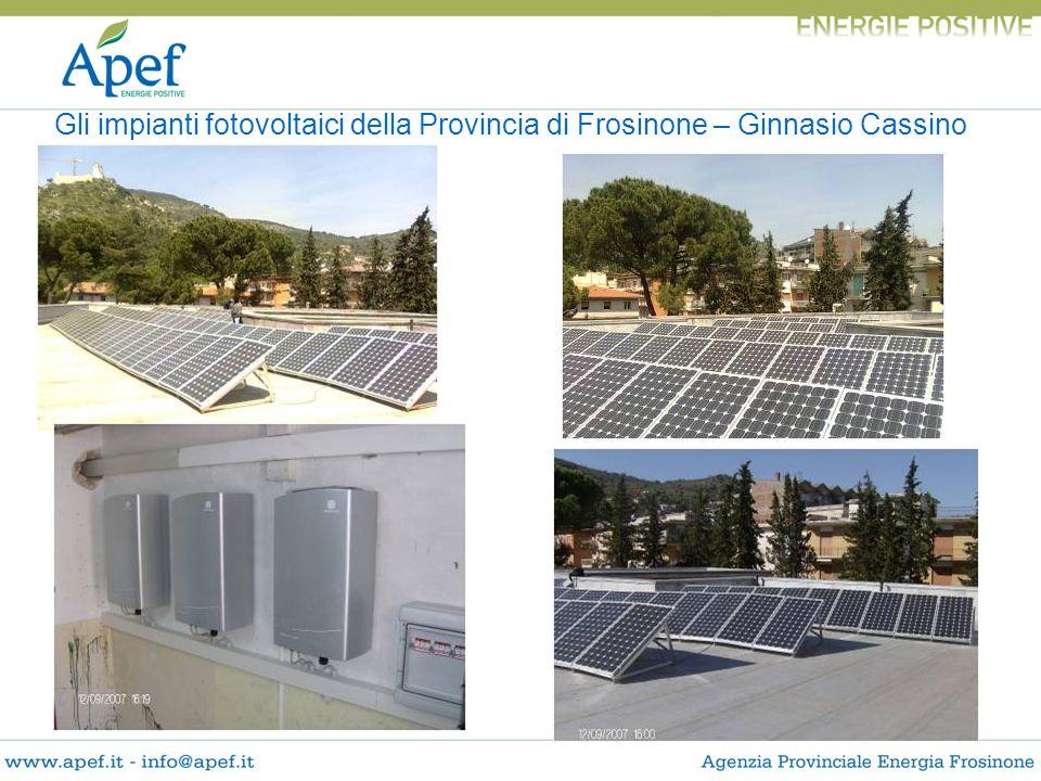 Gli impianti fotovoltaici della Provincia di Frosinone – Ginnasio Cassino