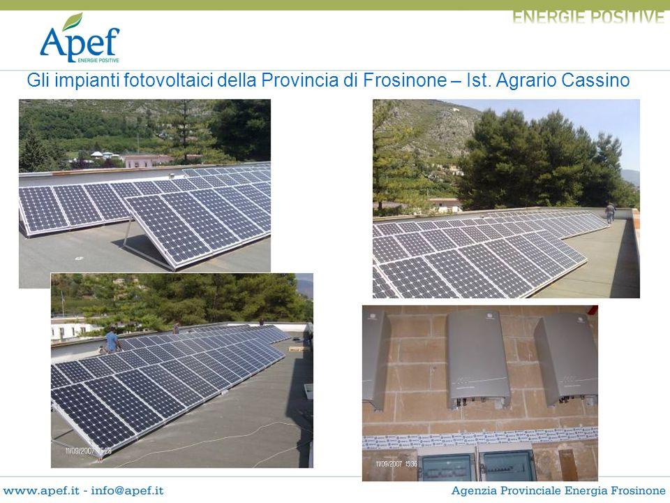 Gli impianti fotovoltaici della Provincia di Frosinone – Ist