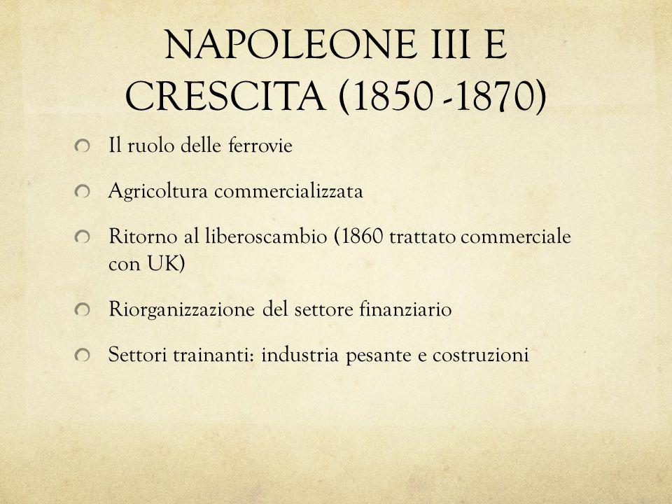 NAPOLEONE III E CRESCITA (1850 -1870)
