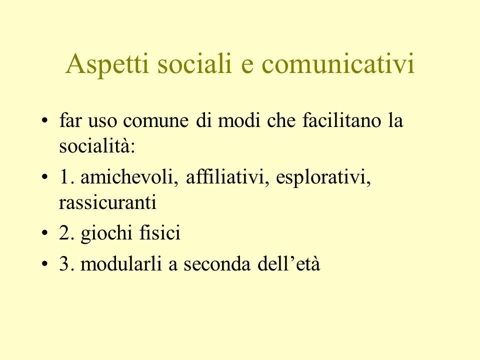 Aspetti sociali e comunicativi