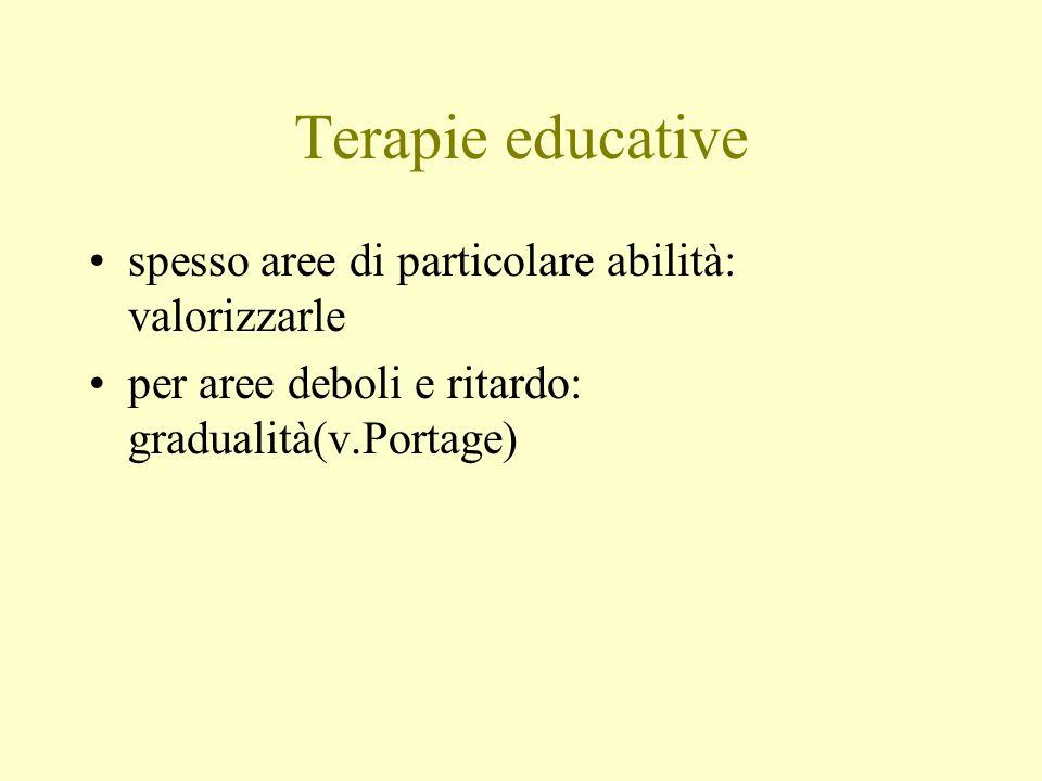Terapie educative spesso aree di particolare abilità: valorizzarle