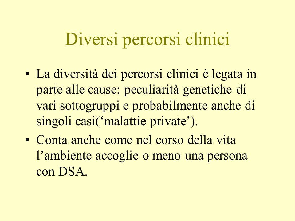 Diversi percorsi clinici