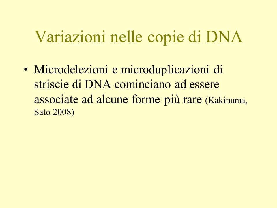 Variazioni nelle copie di DNA