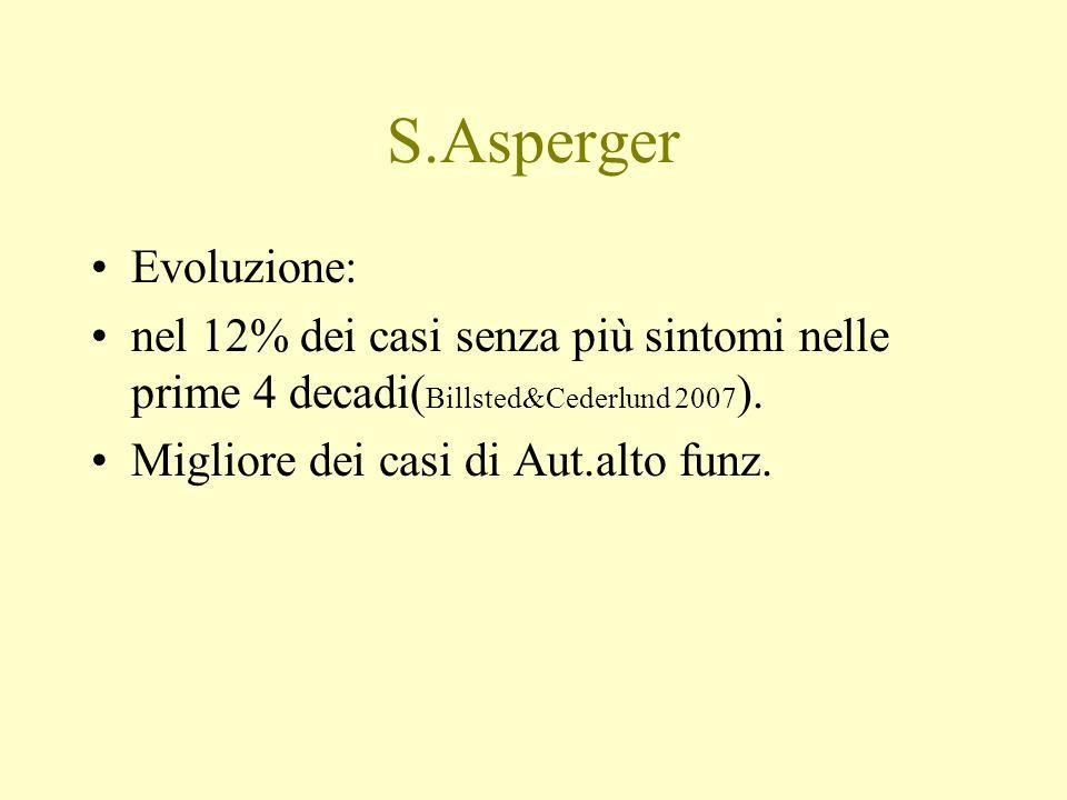 S.Asperger Evoluzione: