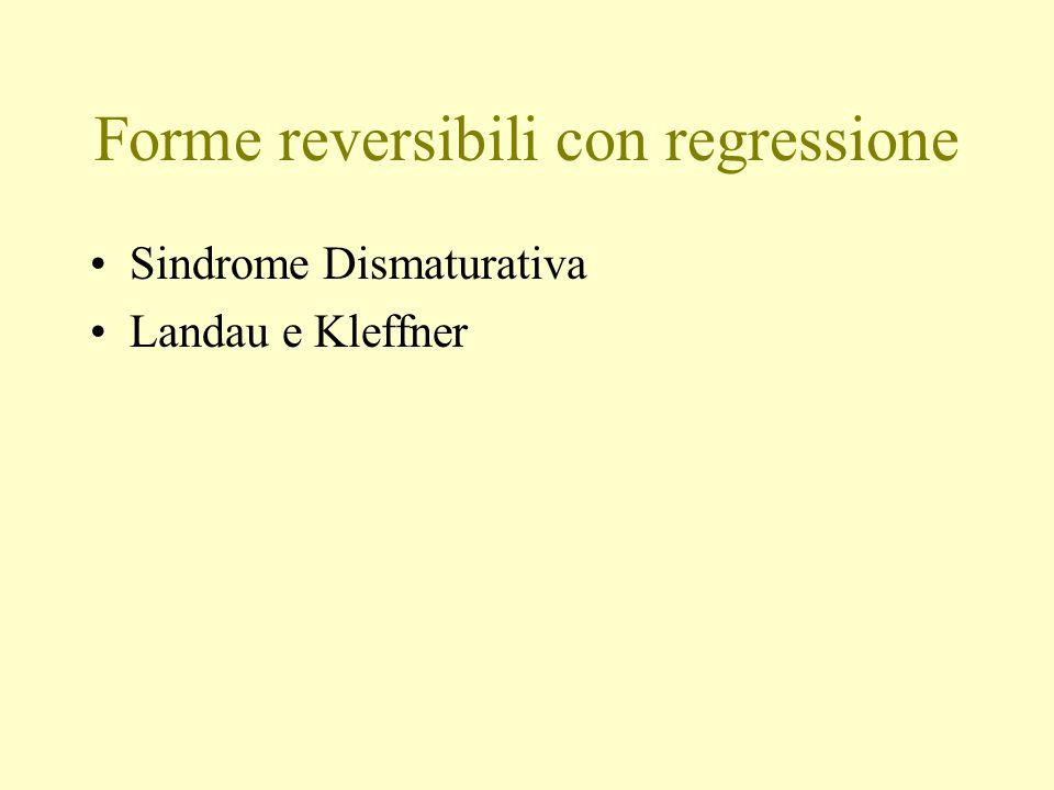 Forme reversibili con regressione