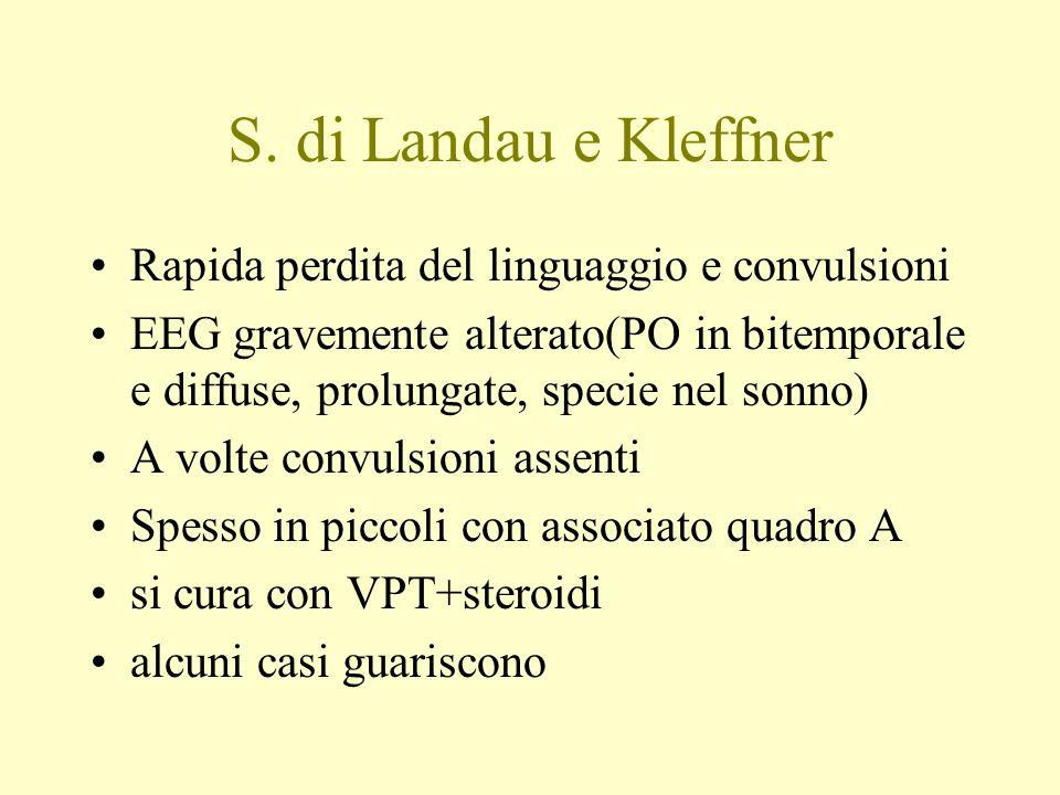 S. di Landau e Kleffner Rapida perdita del linguaggio e convulsioni