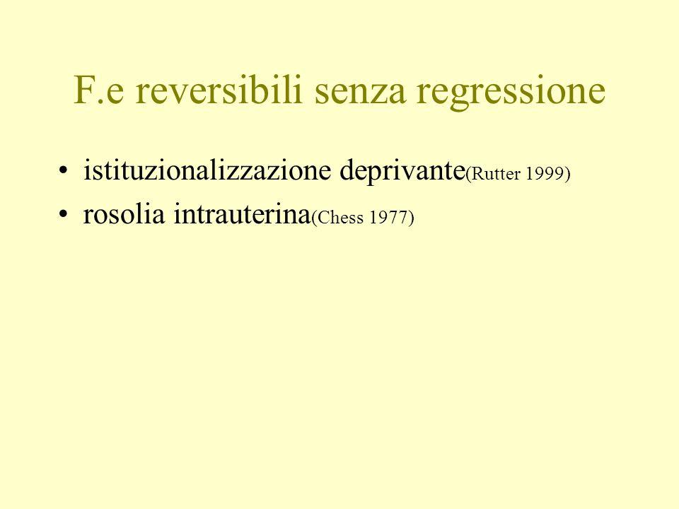 F.e reversibili senza regressione