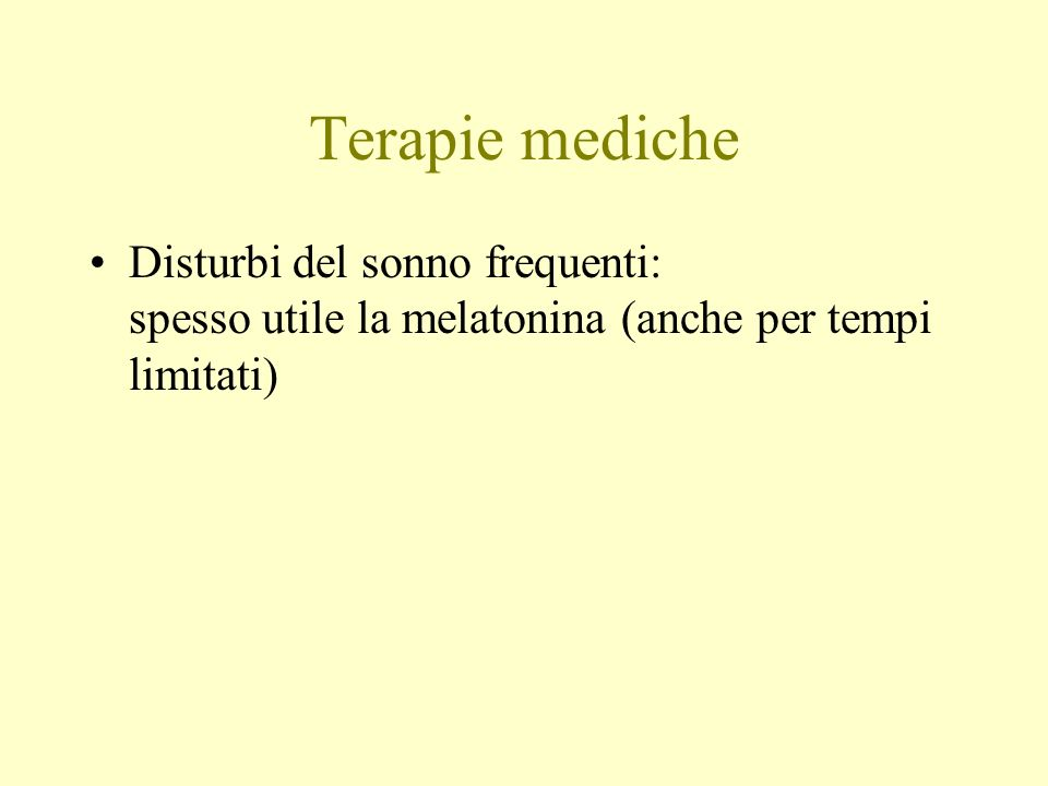 Terapie mediche Disturbi del sonno frequenti: spesso utile la melatonina (anche per tempi limitati)