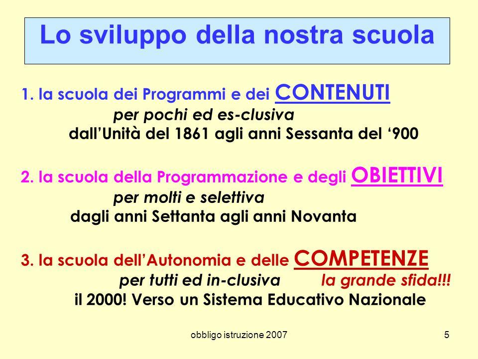 Lo sviluppo della nostra scuola