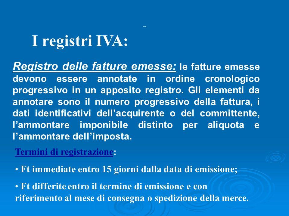 Registri iva I registri IVA:
