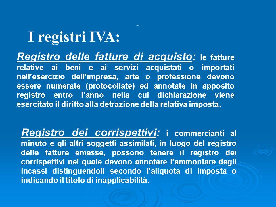 Registri iva 2 I registri IVA: