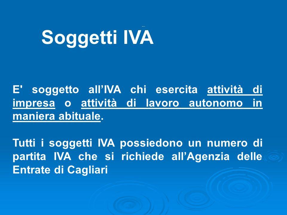 Soggetti iva 1Soggetti IVA. E soggetto all'IVA chi esercita attività di impresa o attività di lavoro autonomo in maniera abituale.