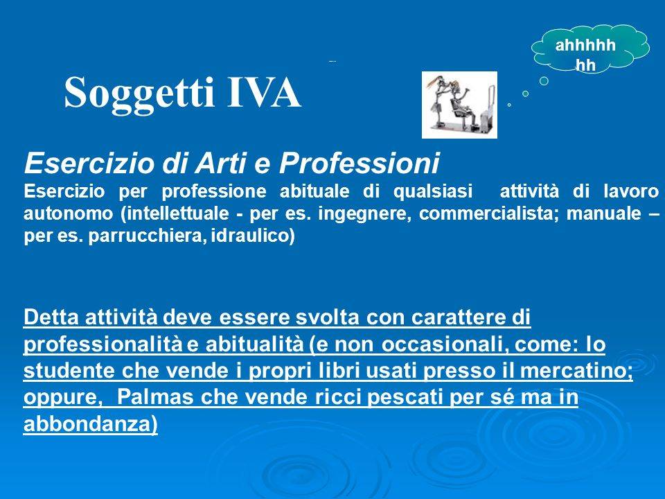 Soggetti IVA Esercizio di Arti e Professioni