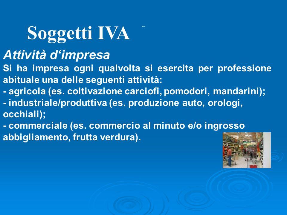 Soggetti IVA Attività d'impresa