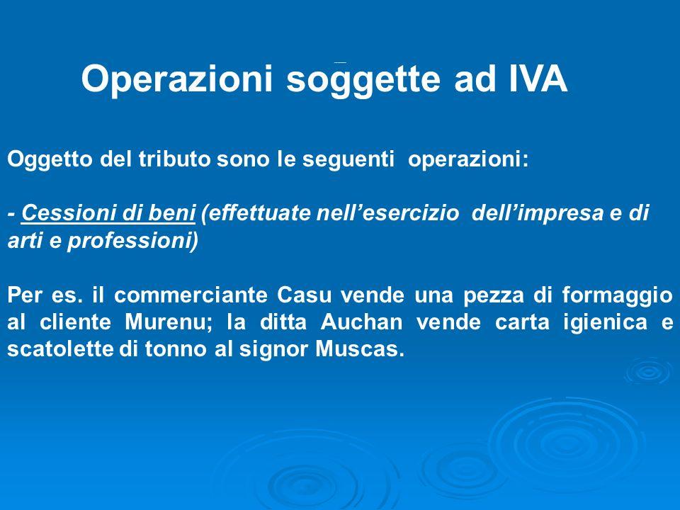 Operazioni soggette iva 1