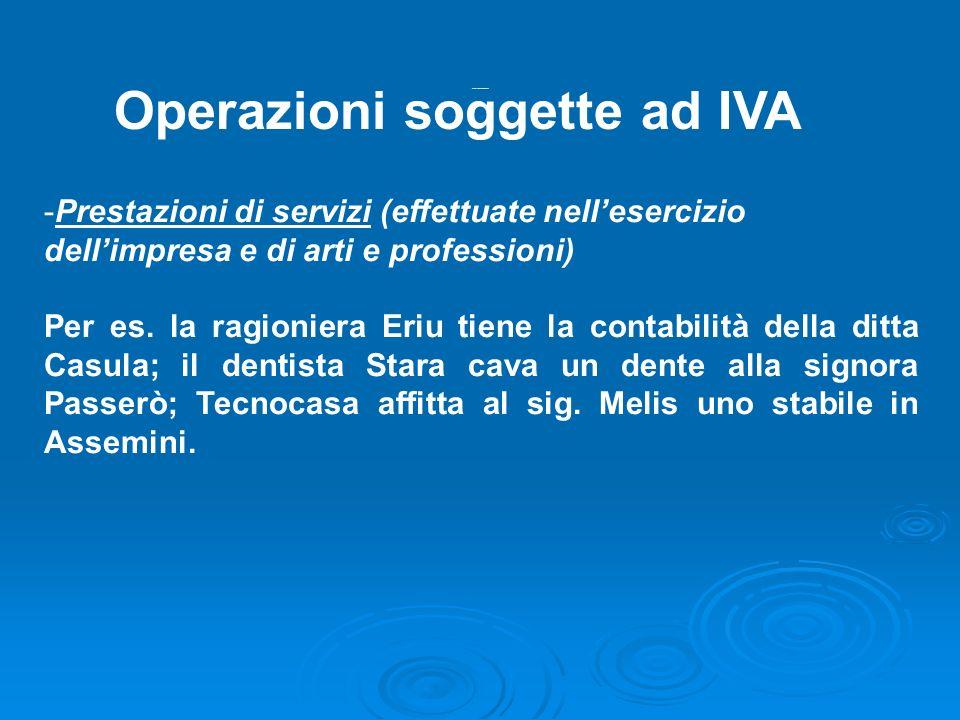 Operazioni soggette iva 2