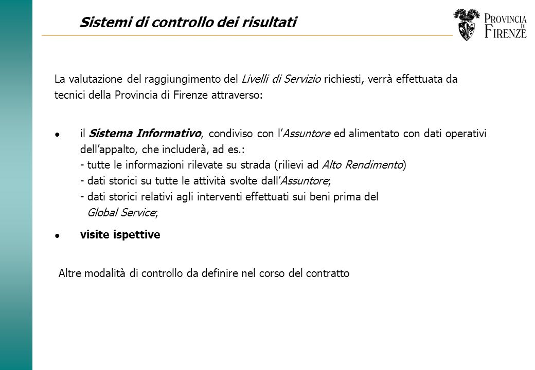 Sistemi di controllo dei risultati
