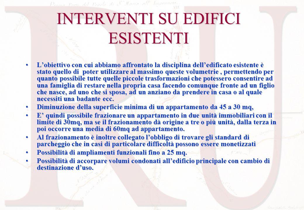 INTERVENTI SU EDIFICI ESISTENTI