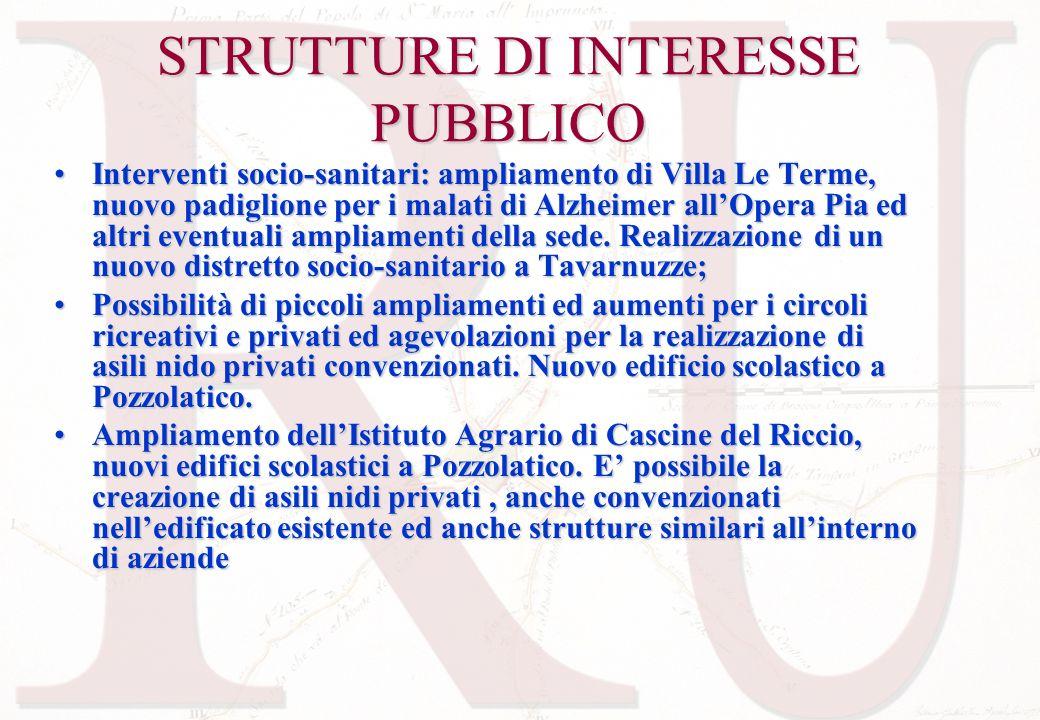 STRUTTURE DI INTERESSE PUBBLICO