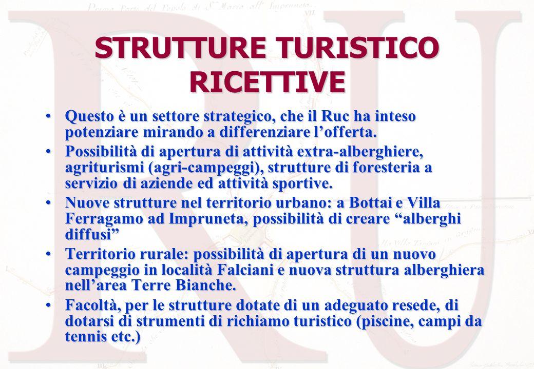 STRUTTURE TURISTICO RICETTIVE