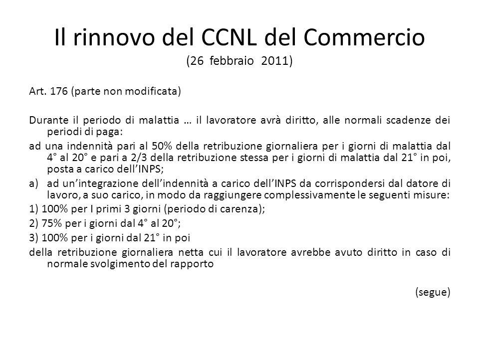 Il rinnovo del CCNL del Commercio (26 febbraio 2011)
