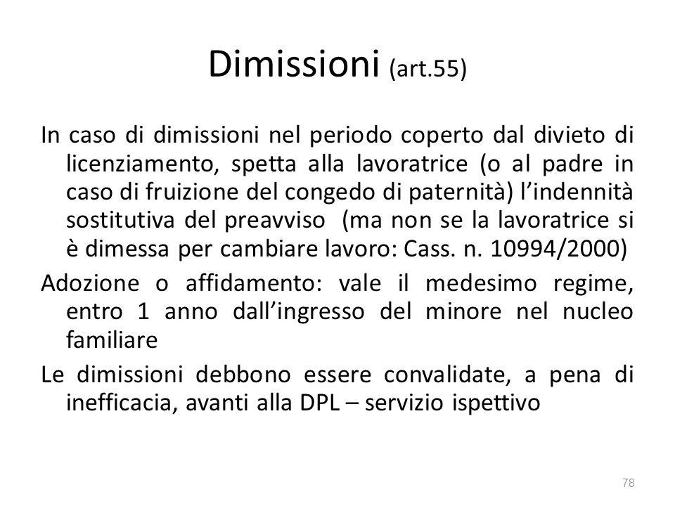 Dimissioni (art.55)