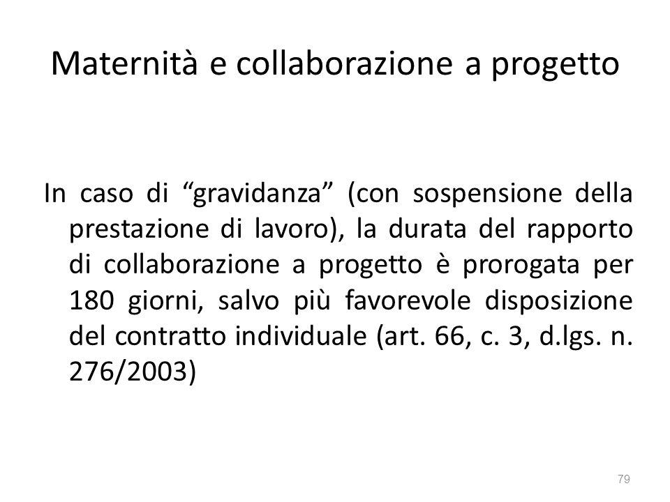 Maternità e collaborazione a progetto