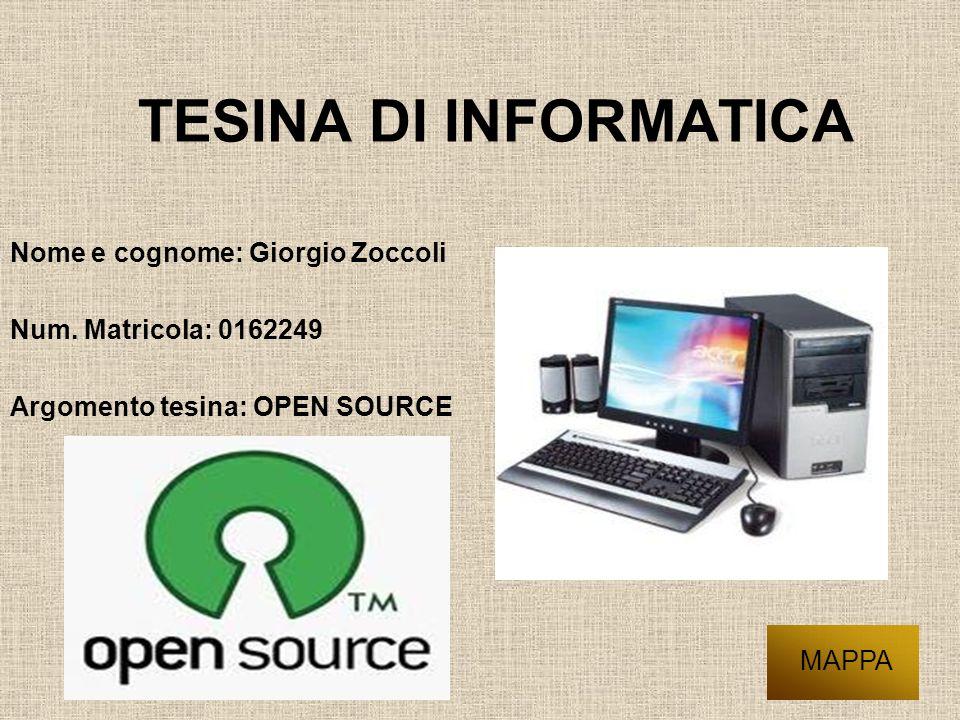 TESINA DI INFORMATICA Nome e cognome: Giorgio Zoccoli