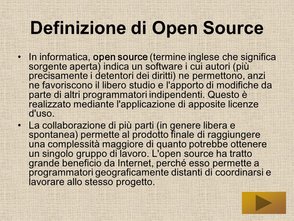 Definizione di Open Source