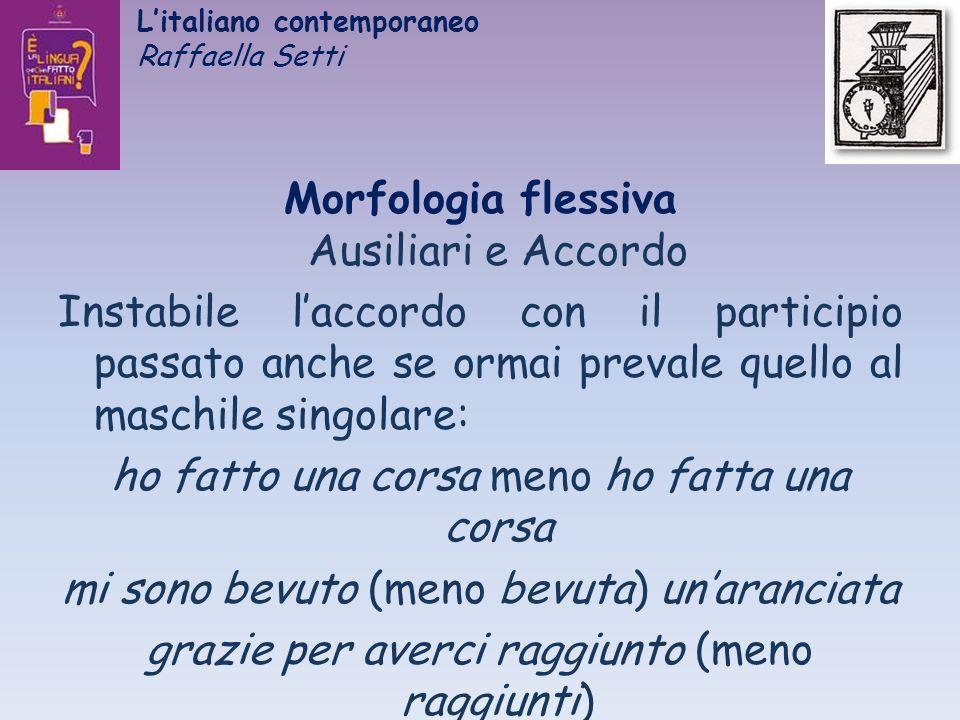 L'italiano contemporaneo Raffaella Setti