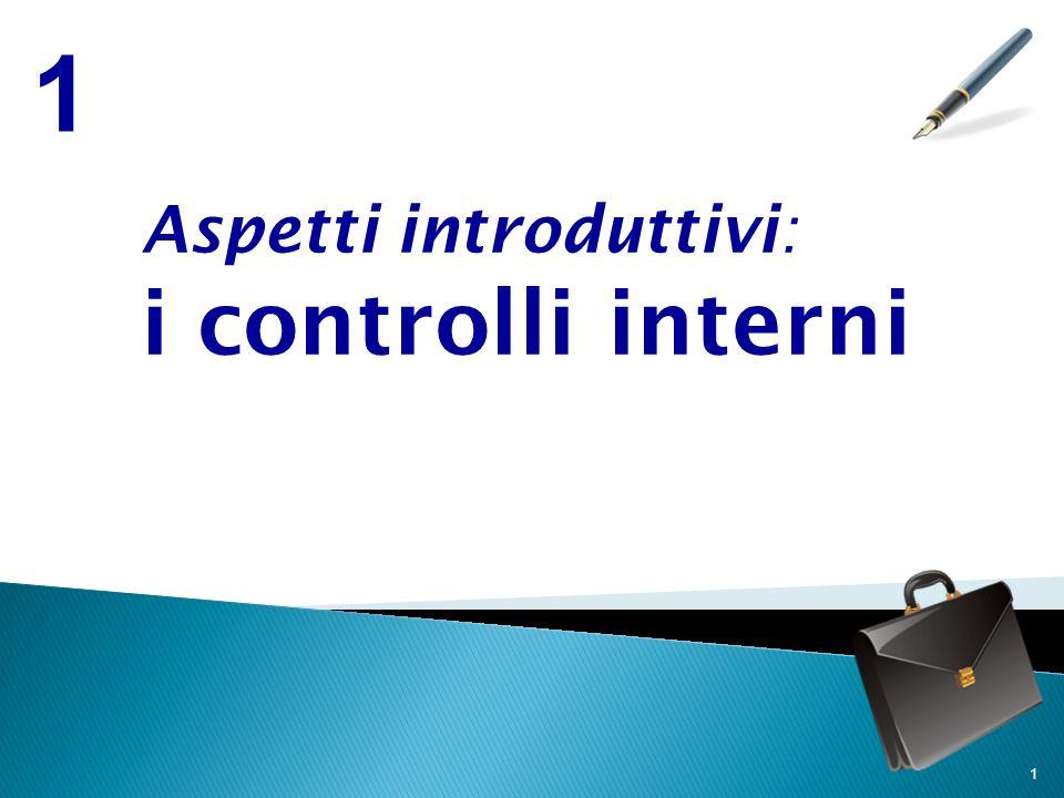 1 Aspetti introduttivi: i controlli interni