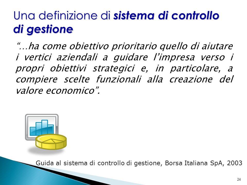 Una definizione di sistema di controllo di gestione