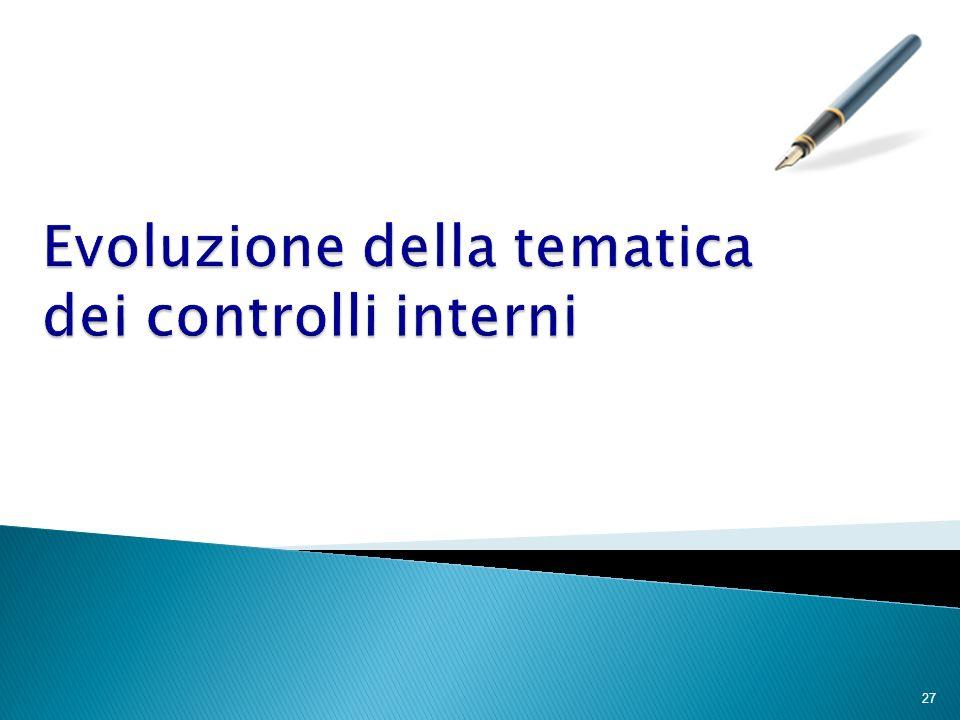 Evoluzione della tematica dei controlli interni