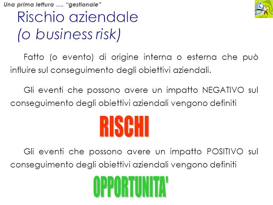 Rischio aziendale (o business risk)