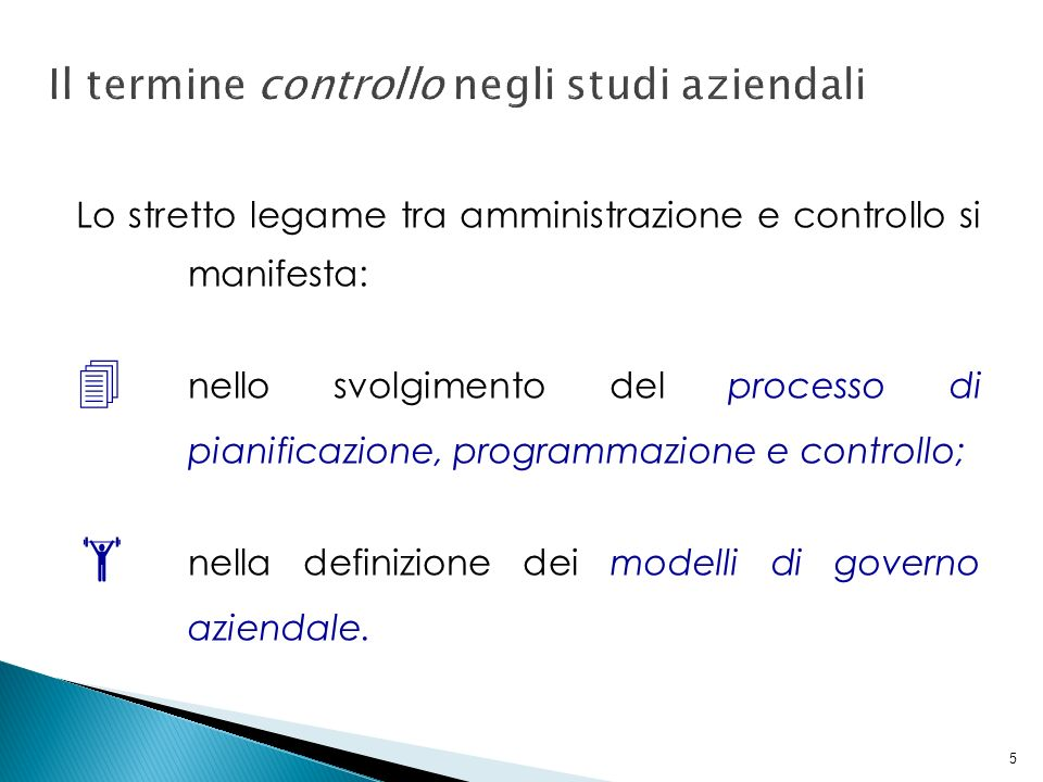 Il termine controllo negli studi aziendali