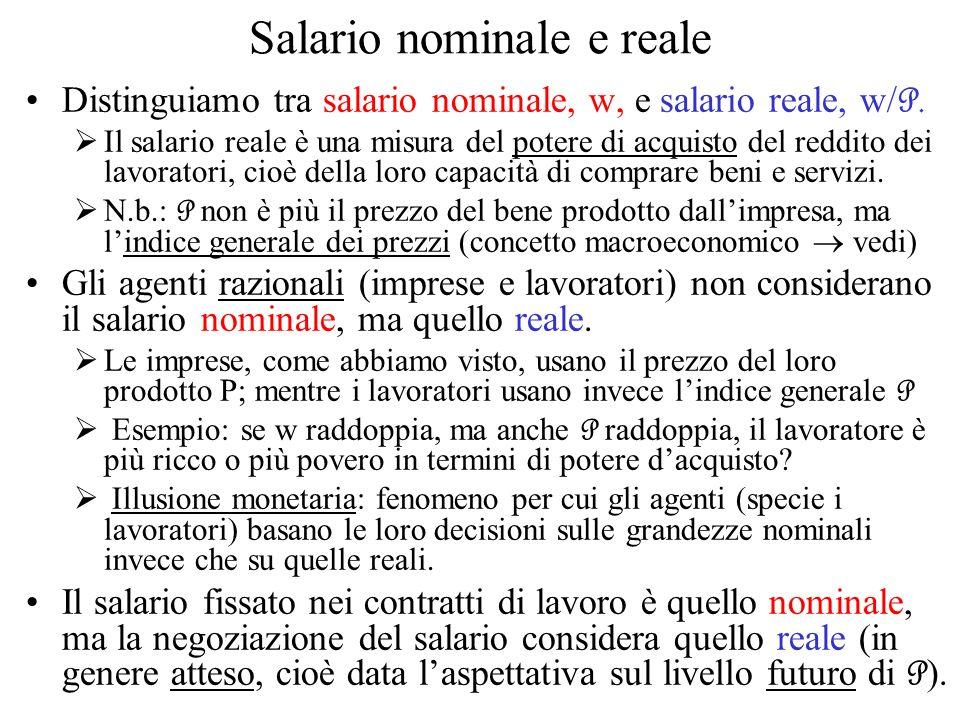 Salario nominale e reale