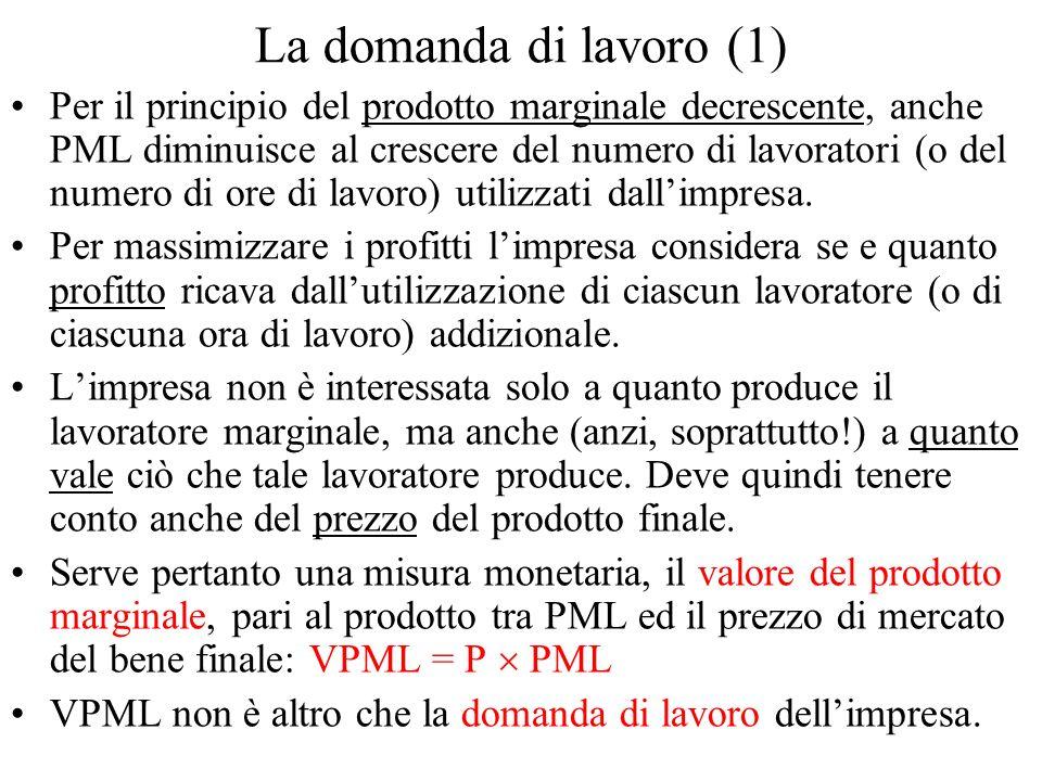 La domanda di lavoro (1)
