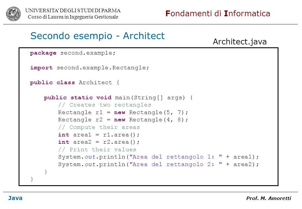 Secondo esempio - Architect