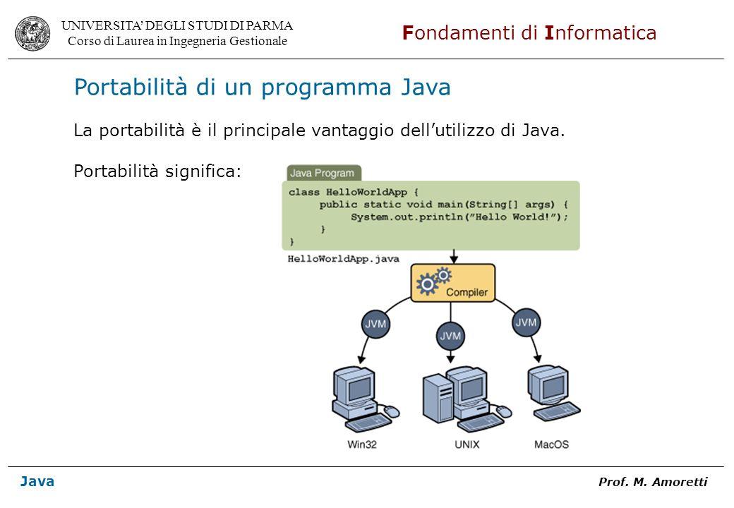 Portabilità di un programma Java