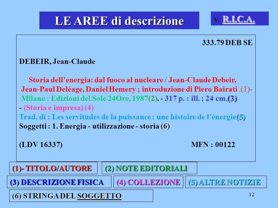 LE AREE di descrizione v. R.I.C.A. 333.79 DEB SE DEBEIR, Jean-Claude