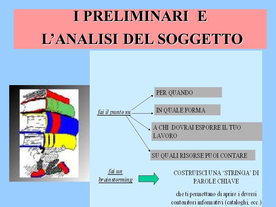 L'ANALISI DEL SOGGETTO