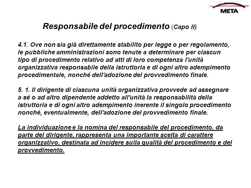 Responsabile del procedimento (Capo II)